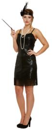 Flapper jurkje 20's zwart