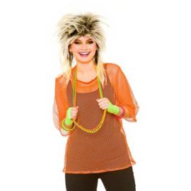 Netshirt oranje 80's