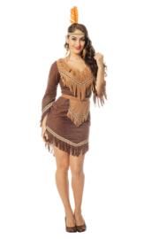 Dames Indianen jurkje bruin