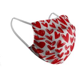 Kinder Mondkapje met hartjes | hartjes print | wasbaar