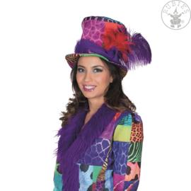 Mutlicolor carnavals hoed | Origineel