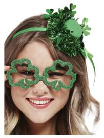 St. Patricks Day bril met klavertjes