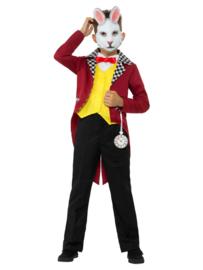 Wit konijn kostuum kinderen