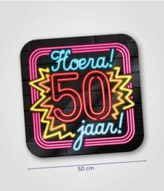 Deurbord neon 50 jaar