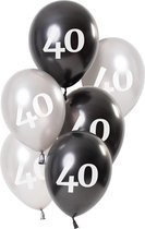 Ballonnen Glossy Black 40 Jaar