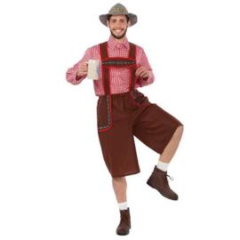 Oktoberfest kostuum tiroler bruin