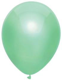 Kwaliteitsballon metallic mintgroen 10 stuks