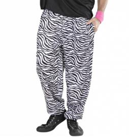 80's zebra print broek