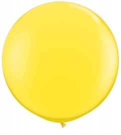 Ballon 90cm geel qualatex