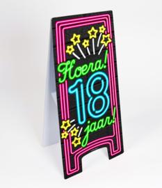 Waarschuwings bord Neon 18 jaar