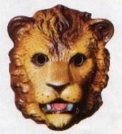 Masker plastic leeuw - kind