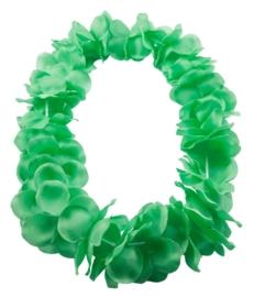 Hawai krans neon groen deluxe