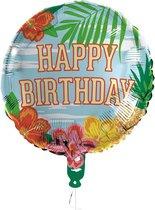 Folieballon Paradise 'Happy Birthday'