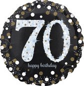Folieballon birthday sparkling 70 (73cm)