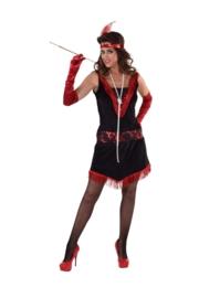 Charleston jurkje rood en zwart OP=OP
