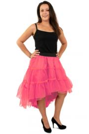 Petticoat schuin aflopend 3 laags roze