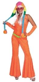 Disco jumpsuit neon oranje