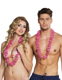Hawaii krans roze easy 25 stuks