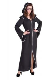 Darkness lady jurk zwart op=op