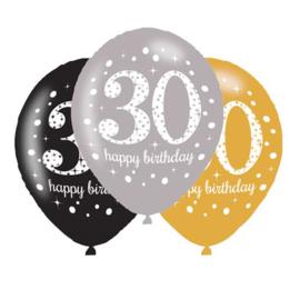 Ballonnen sparkling gold 30 jaar