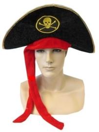 Piraten hoed fluweel
