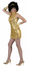 Disco jurkje / tuniek goud