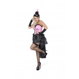 Burlesque jurk pink