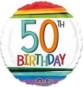 Folieballon rainbow '50' (43cm)