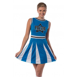 Cheerleader jurkje blauw cheer