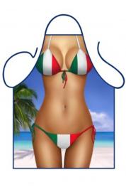 Schort Italiaanse bikini dame