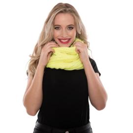 Gebreide snood fluor geel