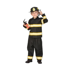 Brandweer kostuum jongen