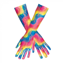 Handschoenen kant lang regenboog