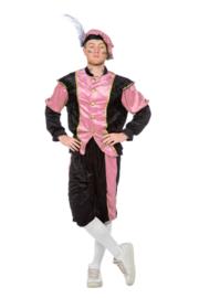 Pieten kostuum pansamt roze zwart