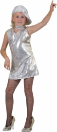 Disco jurkje / tuniek zilver
