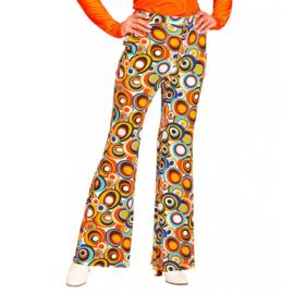 Groovy 70's  dames broek cirkels