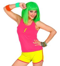 Hotpants neon geel
