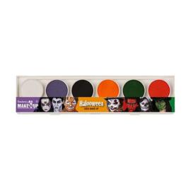 Waterschmink halloween palet 6 kleuren
