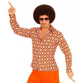 Groovy 70's  heren shirt ruit