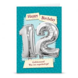 Leeftijd ballonnen kaart 12 jaar