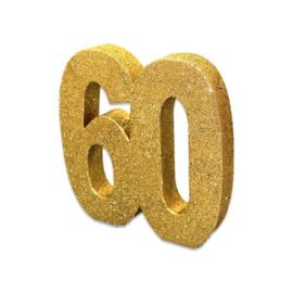 Tafeldecoratie 60 glitter goud