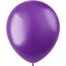 Ballonnen Radiant Violet Purple Metallic 33cm - 50 stuks