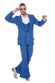 Disco fever kostuum blauw