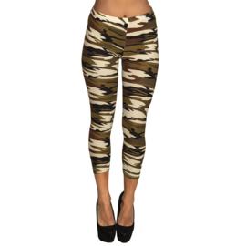Legging army print soldaten vrouw
