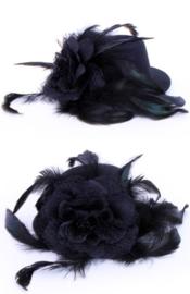 Mini hoedje haarclip flower