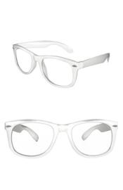 Moderne bril wit