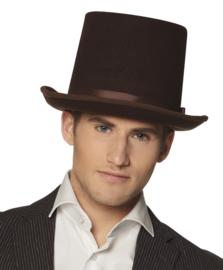 Hoge hoed bruin Deluxe