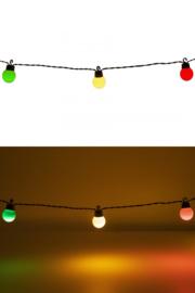 Lichtverlichting snoer 20 lamps rood, geel en groen