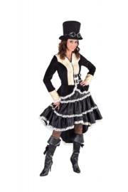 Zwarte steampunk jurk deluxe