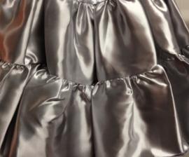 Volangen rok kort zilver